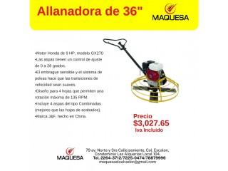 "Allanadora 36"" Motor Honda"